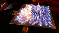 Rubens' Tube Pyro Board is one cool upgrade to the original Rubens tube by creative geeks from Denmark over at as they modded it with 2500 holes to fine tune the details of the visualizer.