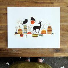 Woodland ~ 11x14 art print