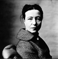 Simone de Beauvoir - feminist, existentialist and author. Slightly crazy, which makes her all the more interesting...