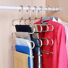 Check out this great stuff I just found at PatPat! Household Organization, Organization Ideas, Trouser Hangers, Pants Rack, Wardrobe Storage Boxes, Buy Wardrobe, Capsule Wardrobe, Steel Racks, Closets