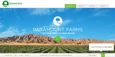 Paramount Farms Website by LEVEL Studios. 19 Minimalist Website Examples. #minimalist #webdesign #minimalism