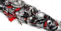 DOPE Spartan 300 sleeve tattoo design by: Krisanovszki