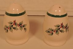 SPODE CHRISTMAS TREE SALT & PEPPER SHAKERS | eBay