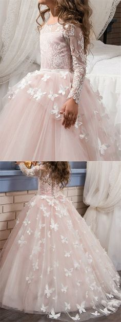 Prom Dresses Elegant, Fancy Long Sleeves Lace Appliques Flower Girl Dress, Mermaid prom dresses, two piece prom gowns, sequin prom dresses & you name it - our 2020 prom collection has everything you need! Sequin Prom Dresses, Mermaid Prom Dresses, Cheap Prom Dresses, Long Dresses, Maxi Dresses, Flower Girl Dresses Boho, Little Girl Dresses, Girls Dresses, Flower Girls