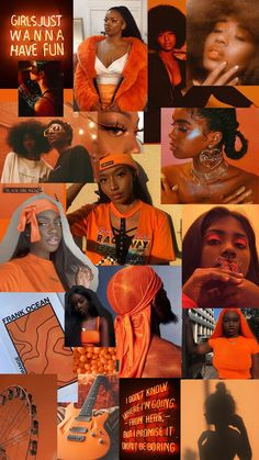 Orange Aesthetic IPhone Wallpaper   Black girl aesthetic, Orange aesthetic, Black aesthetic wallpape