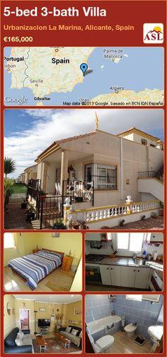 5-bed 3-bath Villa in Urbanizacion La Marina, Alicante, Spain ►€165,000 #PropertyForSaleInSpain
