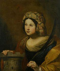 Saint Barbara - Francesco Guarino 17th century