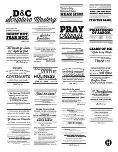 25 D&C Scripture Mastery verses on one page