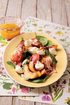 Spinatsalat mit Schinken | Zeit: 25 Min. | http://eatsmarter.de/rezepte/spinatsalat-mit-schinken-0