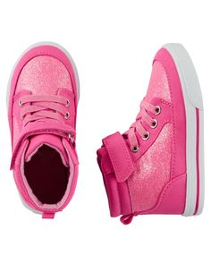 Toddler Girl OshKosh Sparkle High-Top sneakers | Carters.com