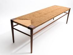 Smilow Woven Rush Bench 60 Inches
