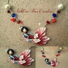 Mermaid Mulan polymer clay by Nakihra Fimo Creations, via Flickr