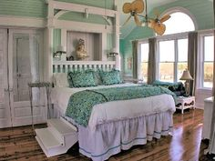 Watch the sunrise without even getting out of bed in the king master suite!