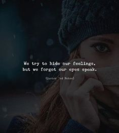 We try to hide our feelings.. —via http://ift.tt/2eY7hg4