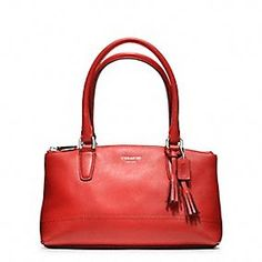 COACH: LEGACY LEATHER MINI RORY BAG in Coral