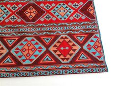 Ethnic Tribal Style Upholstery Fabric Aztec Navajo by Mahzen