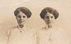 Identical twins; identical weird haircuts