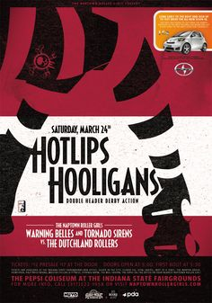 Poster Archive :: Naptown Roller Girls :: Indianapolis Flat-Track Roller Derby