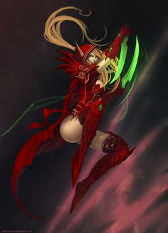 Valeera Sanguinar -- She ended up as a gladiator and fought with Varian Wrynn and Broll Bearmantle.