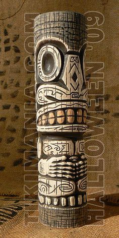 Bone Productions! Wood Carving Designs, Wood Carving Art, Wood Art, Tiki Man, Tiki Tiki, Tiki Statues, Tiki Totem, Tiki Lounge, Hawaiian Tiki