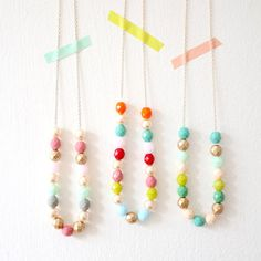 Layering Beaded Strand Necklace Mother's by NestPrettyThingsShop