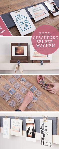 Fotos verschenken: DIY-Ideen für Fotogeschenke / photo  gift ideas, diy tutorials via DaWanda.com
