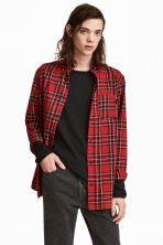 Flanelowa koszula w kratę - Czerwony/Żółty - ON | H&M PL 1