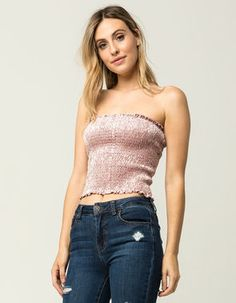 6fceed360e Search Results for  tube top . SmockingTubeSmoking. SKY AND SPARROW Smocked  Velvet Womens ...