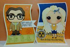The Cricut Bug, Penny and  Lenonard, from  Big Bang Theory. love them....