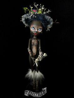 "monster high doll ooak custom repaint forest creature Soetkin ""sweet child"" by Saijanide"