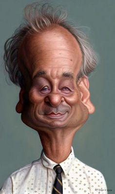 Bill Murray - illustration of Walter Fornero