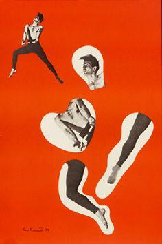 Paul Rand poster: Dancer.