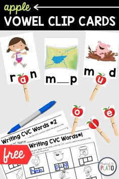 Add some seasonal fun to your reading centers this fall with these hands-on middle vowel clip cards. Kids will love reading words and finding the middle vowel that makes sense! This activity also comes with a free recording sheet to help students writing practice as well! Perfect for literacy centers or a guided reading group activity. #literacycenters #appleactivities #fallactivities Reading Group Activities, Teaching Reading Strategies, Apple Activities, Writing Practice, Literacy Activities, Literacy Centers, Beginning Of Kindergarten, Kindergarten Literacy, Reading Words