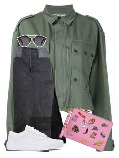 """""""Untitled #1538"""" by loveyourselfiee ❤ liked on Polyvore featuring Faith Connexion, Christian Dior, Vans and Moschino"""