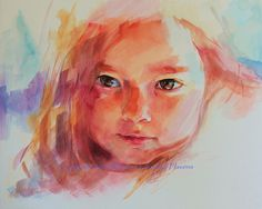 watercolor son portrait by krystyna81, via Flickr