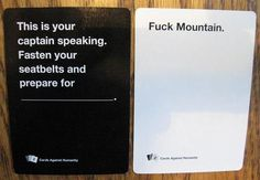 A party game for horrible people. Cards Vs Humanity, Cards Against Humanity, Horrible People, Easily Offended, Life Is Hard, Coping Mechanisms, How To Make Light, Party Games, Lol