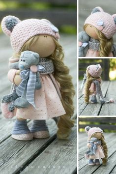 Fabric Doll Handmade Doll Textile Doll Cloth Doll Muñecas
