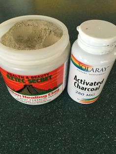 Detoxifying Face Mask (clay + activated charcoal)  1 tsp Bentonite Clay (bought mine at Whole Foods) 2 capsules Activated Charcoal 2 tsp water  // Mix all ingredients in a bowl and spread onto face. Let sit for 5 min and then rinse. Moisturize after with coconut oil.