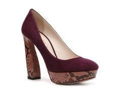 Prada Suede & Reptile Platform Pump -shouldn't every girl have a snake in her closet?