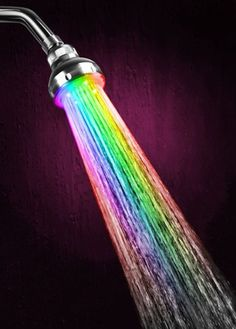 LED Color Changing Showerhead Brightens Up Your Bathing Experience  ... see more at InventorSpot.com