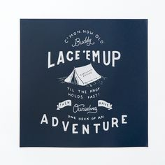 Lace Em Up Poster | Overland Empire