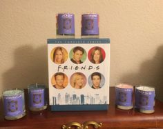 Friends Inspired Candles. All characters have their own scents. Chandler Bing, Monica Gellar, Phoebe Buffay, Joey Tribbiani, Rachel Green, Ross Gellar