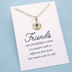 ETSY- Best Friend Gift Compass Necklace Best Friend door SusiDjewelry