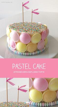 PASTEL CAKE - Zitronen-Brauseflummi-Torte