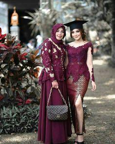 Kebaya Muslim, Kebaya Hijab, Batik Kebaya, Batik Dress, Muslim Dress, Muslim Hijab, Model Dress Kebaya, Model Kebaya Brokat Modern, Kebaya Modern Hijab