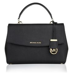Plain elegance for everyday: Michael Kors 'Ava Satchel' in black! The minimalistic Design adds a professional touch to any business outfit and fits well to casual styles. Fashionette.de