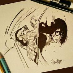 •Io non voglio vincere: io devo vincere!• Ichigo vs Ulquiorra ❤🔥 ...quando la mente si fa rumorosa, disegna.  #Bleach #hollow #arrancar #ichigokurosaki #Ulquiorra #mangagirl #mangas #inchiostro #art #illustration #InstaTags4Likes #drawing #draw #picture #artist #sketch #sketchbook #paper #pen #pencil #artsy #instaart #beautiful #instagood #gallery #creative #photooftheday #instaartist #graphic #graphics