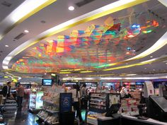 An installation at the Delhi Duty Free in the Indira Gandhi International Airport's departure terminal draws inspiration from the surging waters of the sea...http://inditerrain.indiaartndesign.com/2014/09/lehar-art-installation-at-delhi-airport.html