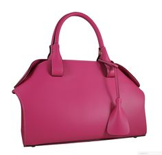 """""""On Wednesday's we wear PINK"""" ~Mean Girls #Quote Our Pink Carbotti Italian Leather #Handbag is the perfect shade of pink!💝 #pink #love #cute #fashion #blue #me #pretty #girl #beautiful #nails #black #fashion #style #love #jewelry #beauty #shoes #Deals #me #vintage"""