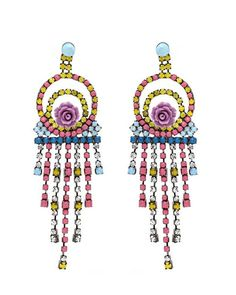The Pastel Bouquet Crystal Earrings by JewelMint.com, $34.00